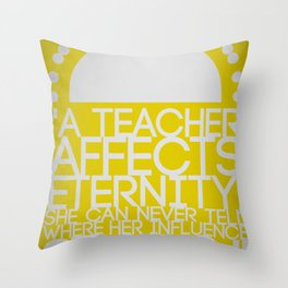A Teacher for Christina Throw Pillow