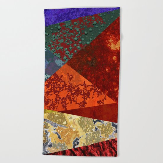 Abstract #300 Oxidation Beach Towel