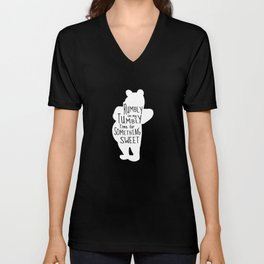 Rumbly in my Tumbly Time for Something Sweet - Pooh inspired Print Unisex V-Neck