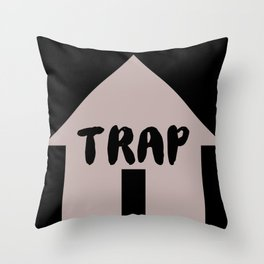 Trap House Throw Pillow