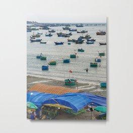 Muine Fishing Village Metal Print