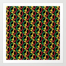Peace Rasta Pattern  Art Print