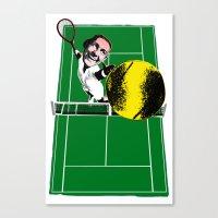 tennis Canvas Prints featuring Tennis by Pierre-Paul Pariseau