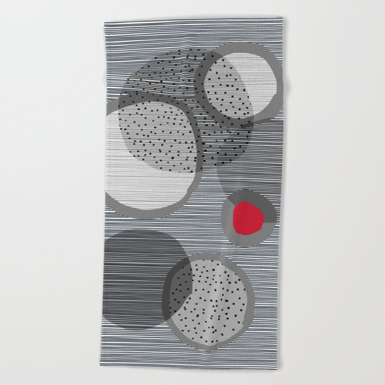 the red dot Beach Towel
