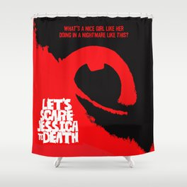 Let's Scare Jessica To Death Movie Poster Shower Curtain