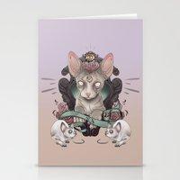 sphynx Stationery Cards featuring Sphynx by AlchemyArt
