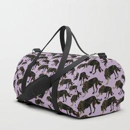 Totem black Buffalo wolf (nubilus) Lavender Duffle Bag