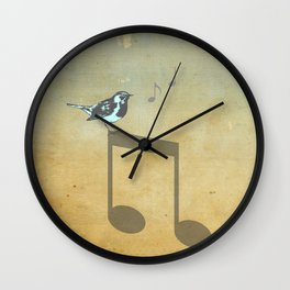 Please don't stop the music // Analog Zine Wall Clock