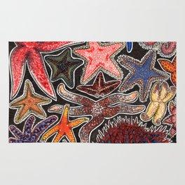 Sea stars and starfish Rug