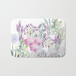 Spring Flowers Bouquet Bath Mat