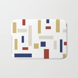 Abstract Theo van Doesburg Composition VIII (White) The Three Graces Bath Mat