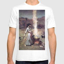 THE MAGIC CIRCLE - JOHN WILLIAM WATERHOUSE T-shirt
