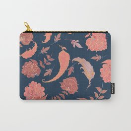 Paradise Patterns - Blue & Coral Carry-All Pouch