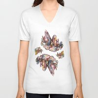crystal V-neck T-shirts featuring Crystal by Kat Nova