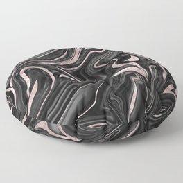 Black Gray White Rose Gold Marble #1 #decor #art #society6 Floor Pillow
