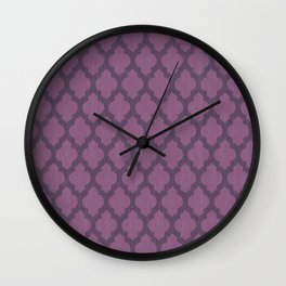 Purple Moroccan Wall Clock
