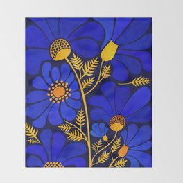 Wildflower Garden Throw Blanket