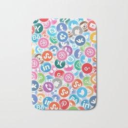Social networks Bath Mat