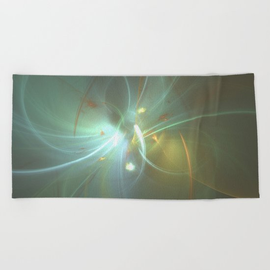 Holiday Glow Fractal Beach Towel