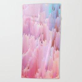 Delicate Glitches Beach Towel