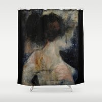 imagerybydianna Shower Curtains featuring apophrades by Imagery by dianna