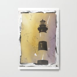 Bodie Island lighthouse at sunset in the Outer Banks (OBX) of North Metal Print