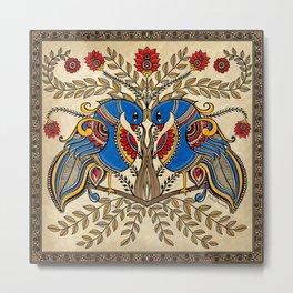 The Gemini peacock  Metal Print