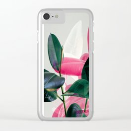 Greenery Mix Clear iPhone Case