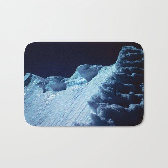NATURE'S WONDER #2 - Glacier in the dark #art #society6 Bath Mat