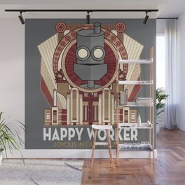 Happy Worker - Joyous in our Industry Wall Mural