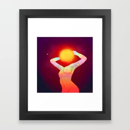 Sun Head Framed Art Print