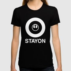 Stay On Target... Black MEDIUM Womens Fitted Tee