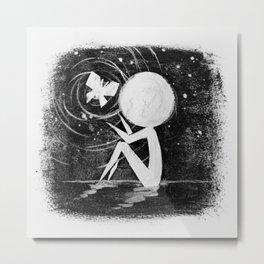 Stickmens Series - Light Metal Print
