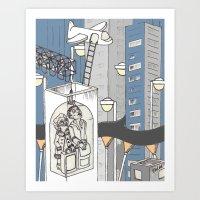 flight Art Prints featuring flight by Madmi