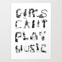 Girls Can't Play Music Art Print