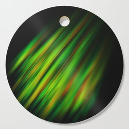 Colorful neon green brush strokes on dark gray Cutting Board