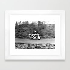 A Dangerous Road Ahead Framed Art Print