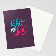Shit Outta' Luck Stationery Cards