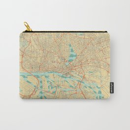 Hamburg Map Retro Carry-All Pouch