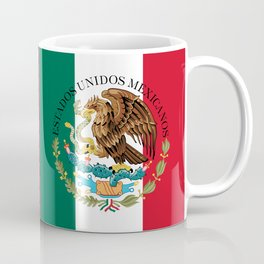 Mexican flag (augmented scale) with Coat of Arms (overlaid) Coffee Mug