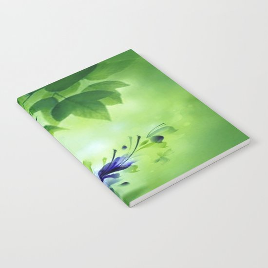 Cascading Bouquet Abstract Notebook