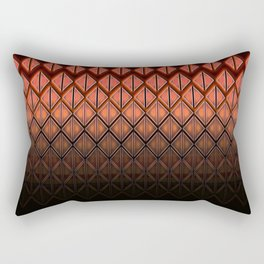 Future Scales Red Rectangular Pillow