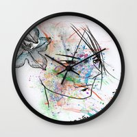 anime Wall Clocks featuring Anime 3  by Del Vecchio Art by Aureo Del Vecchio