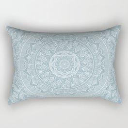 Mandala - Soft turquoise Rectangular Pillow