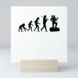 Evolution Lumberjack Mini Art Print