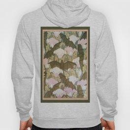Vintage ART Nouveau Bat Floral Pattern Hoody