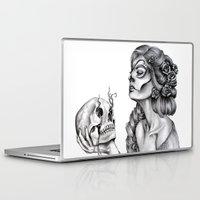 sugar skull Laptop & iPad Skins featuring Sugar Skull by April Alayne