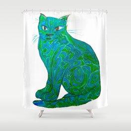 Fauvist Cat Shower Curtain