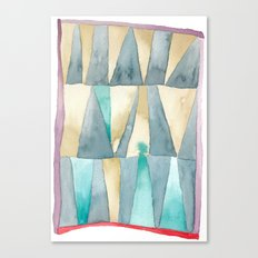 Triangle Quilt Abstract Canvas Print
