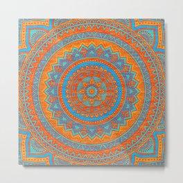 Hippie mandala 66 Metal Print
